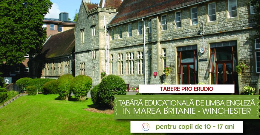 TABĂRĂ educațională de limba ENGLEZĂ în Marea Britanie WINCHESTER, Anglia